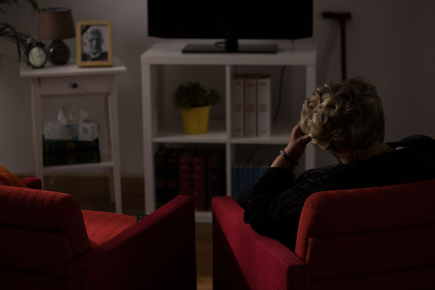 43838405 - lonely senior woman being alone at home